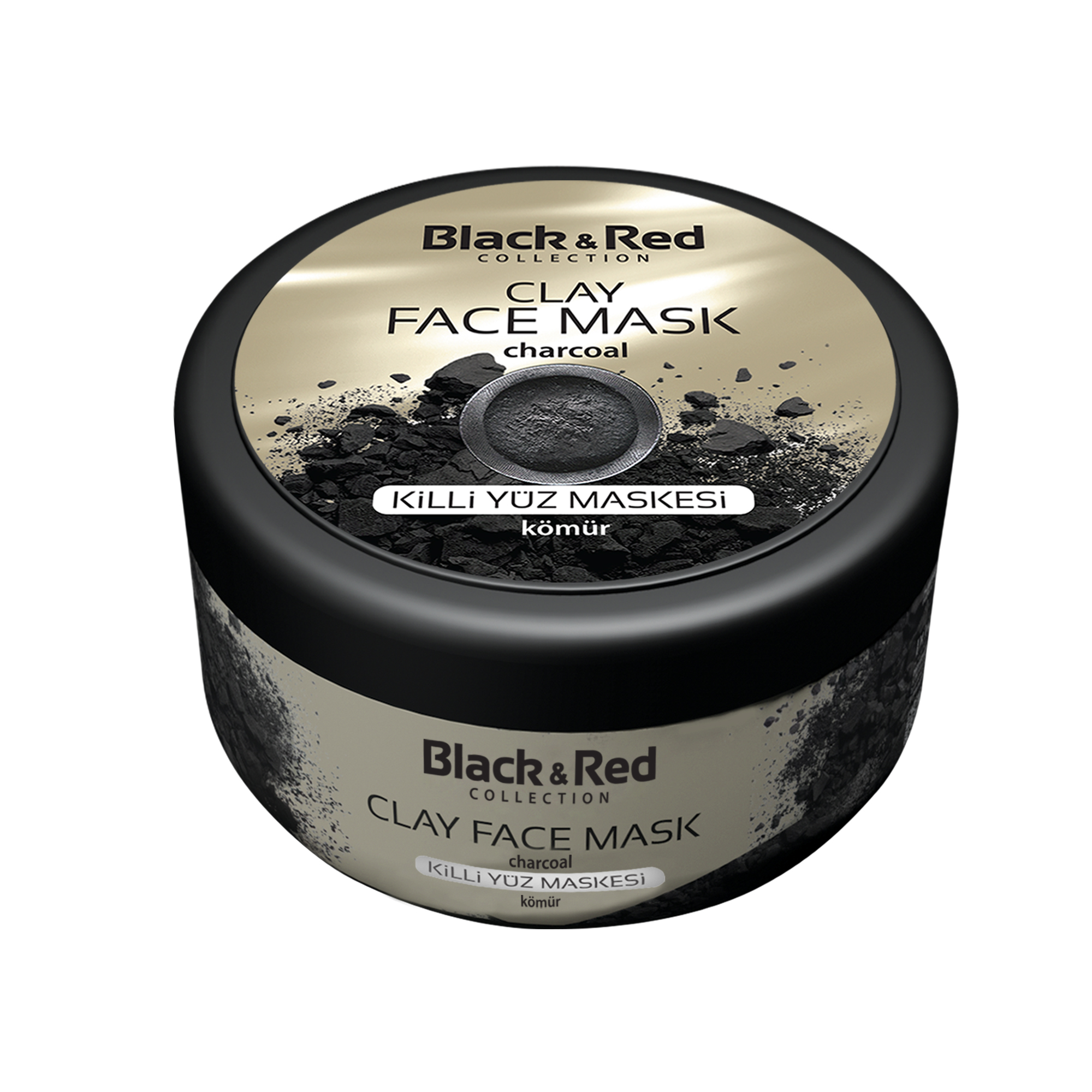 B&R CLAY FACE MASK - CHARCOAL / 2101-04