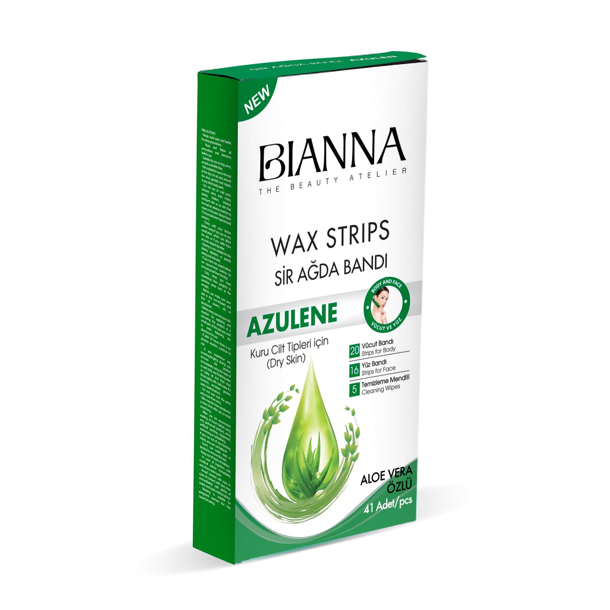 BIANNA LIPOSOLUABLE WAX STRIP SET - AZULENE / 4226-02